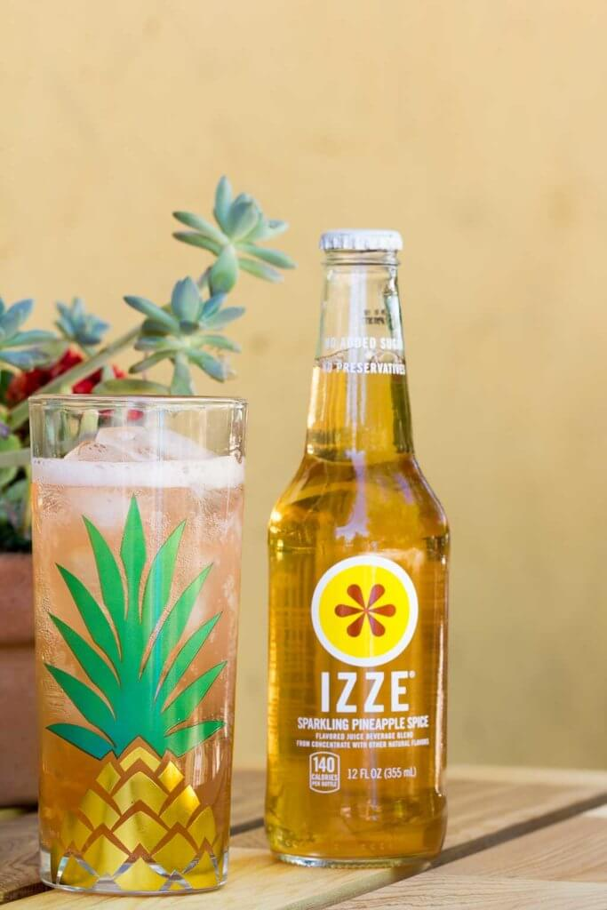 drive-swim-fly-california-pineapple-collection-izze-pineapple-soda-glass-tumbler-glass