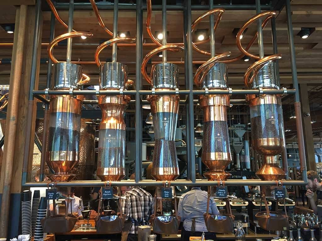 drive-swim-fly-seattle-washington-portland-oregon-vacation-2015-selfietrip-starbucks-reserve-coffee-silos-copper-pipes-beans
