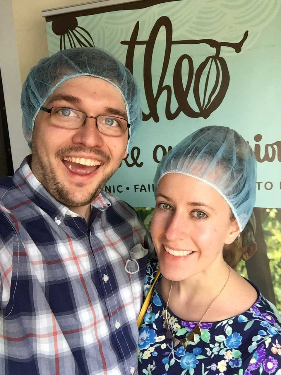drive-swim-fly-seattle-washington-portland-oregon-vacation-2015-selfietrip-theo-chocolate-factory-tour-hair-nets