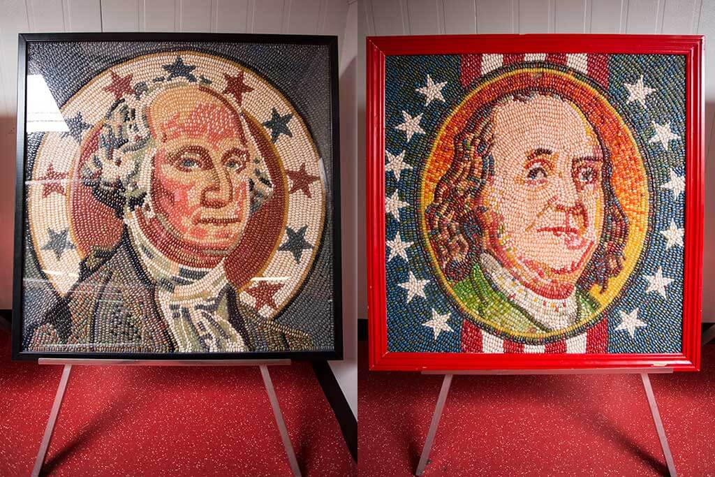 drive-swim-fly-jelly-belly-factory-tour-fairfield-california-presidential-jellybean-portraits-george-washington-benjamin-franklin