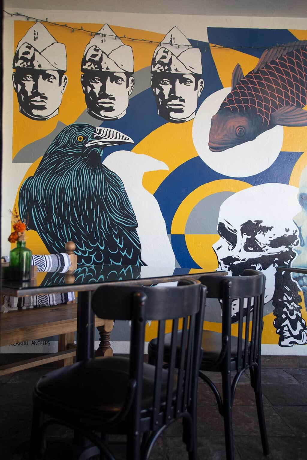 drive-swim-fly-california-monterey-cult-taco-downtown-patio-mural-raven