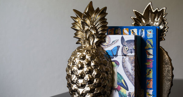 drive-swim-fly-california-pineapple-collection-fine-art-gold-book-ends-bird-books