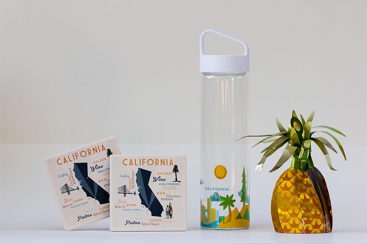 drive-swim-fly-california-pineapple-collection-fine-art-starbucks-water-bottle-coasters