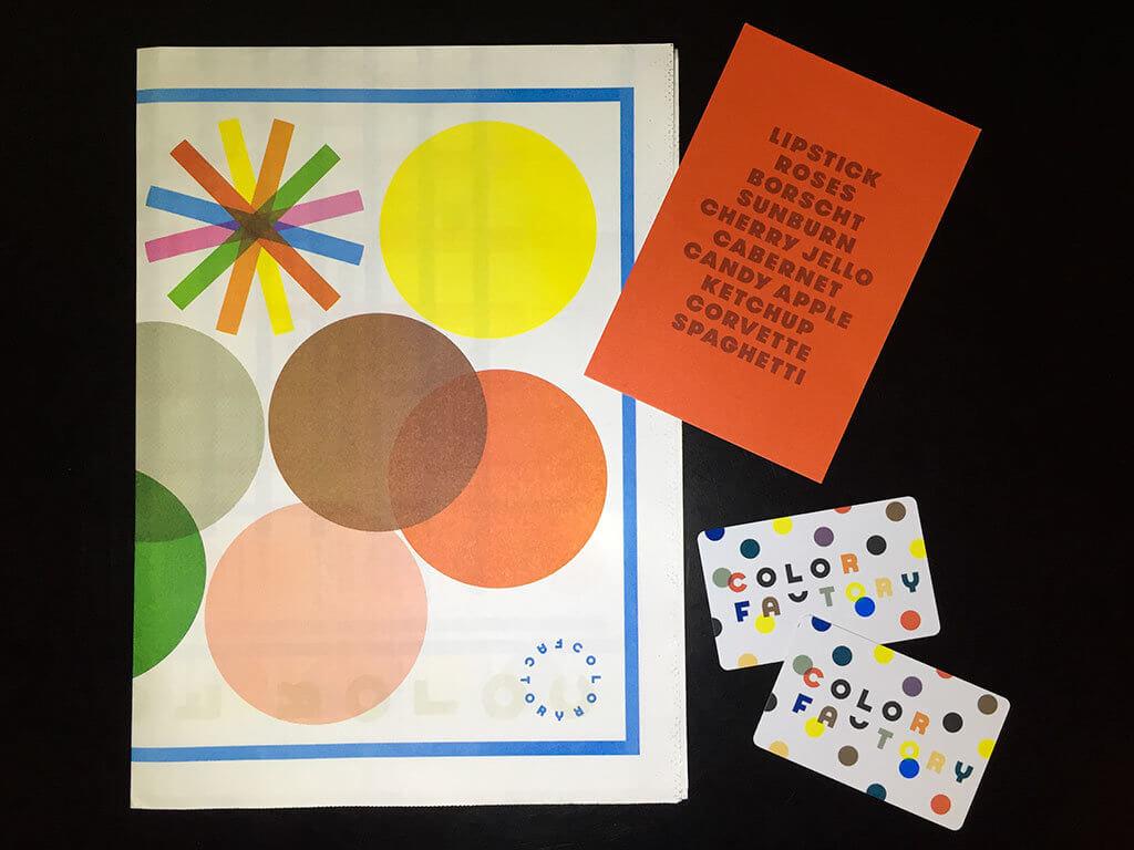 drive-swim-fly-color-factory-san-francisco-union-square-freebies-swag-program-map-postcard-photo-cards