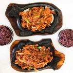 drive-swim-fly-enjoy-seoul-korean-restaurant-san-jose-california-vietnam-town-korean-barbeque-bbq-cow-skillet-purple-rice