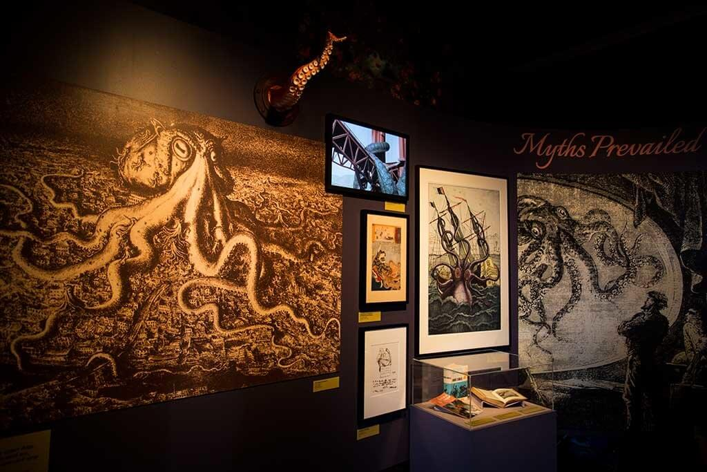 drive-swim-fly-monterey-bay-aquarium-california-monterey-peninsula-tentacles-exhibit-art-wall-myths-prevailed