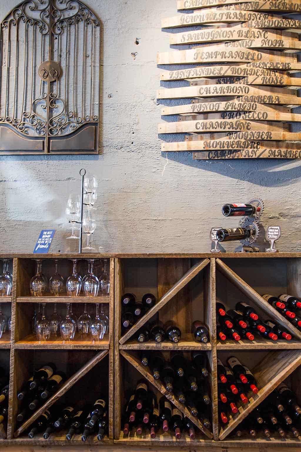 drive-swim-fly-18th-barrel-wine-and-beer-tasting-room-san-juan-bautista-california-alcohol-wine-rack