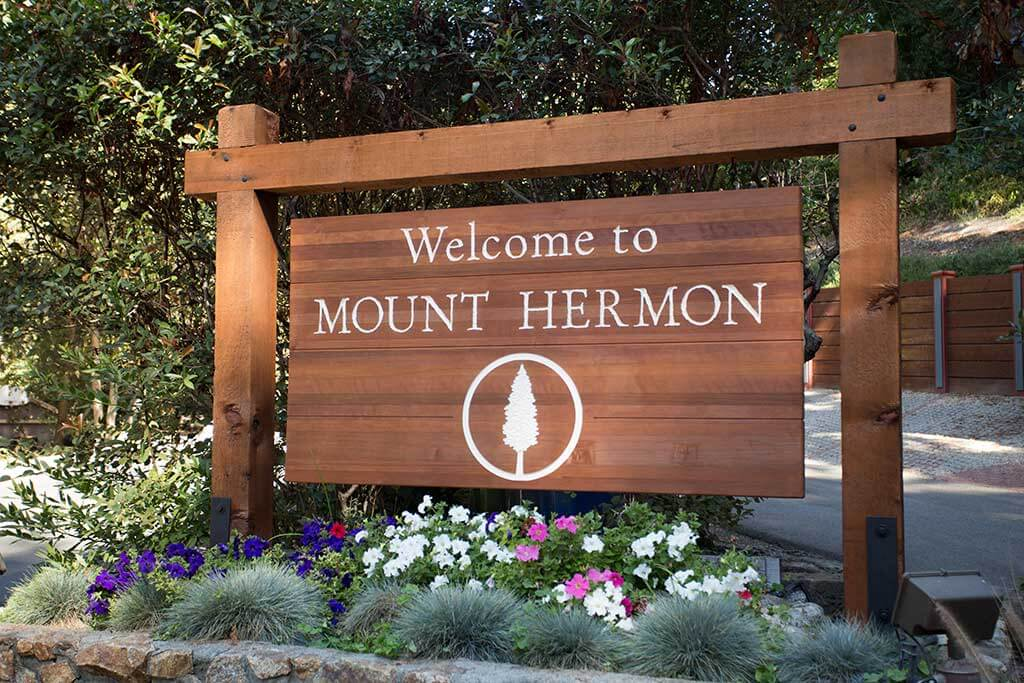drive-swim-fly-california-mount-hermon-christian-retreat-camp-outdoor-wooden-welcome-sign