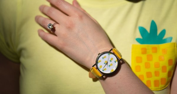 drive-swim-fly-pineapple-collection-pineapple-wrist-watch-yellow-watch