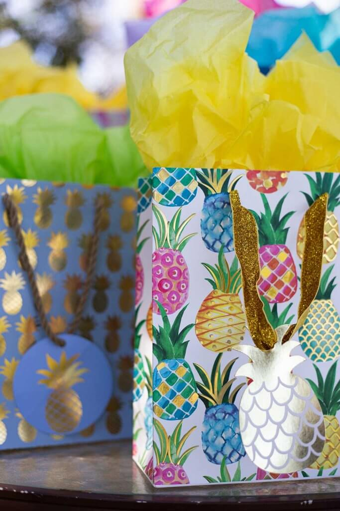 drive-swim-fly-pineapple-collection-gift-bags-presents-metallic-gold