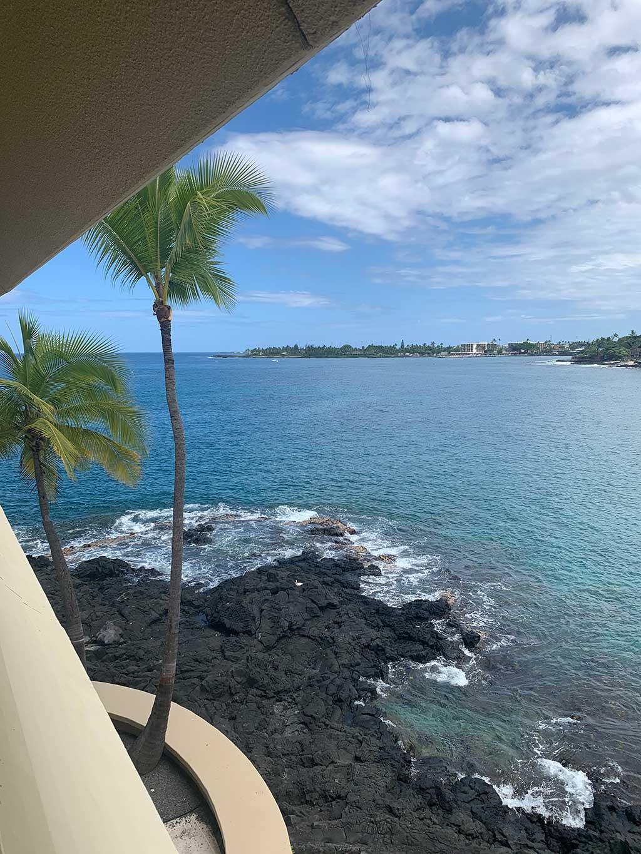 drive-swim-fly-hawaii-big-island-kona-coast-royal-kona-resort-hotel-view