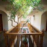 drive-swim-fly-posada-de-san-juan-bautista-hotel-inn-greenhouse-hallway-vintage-historic-indoor-plants-trees-antique-california