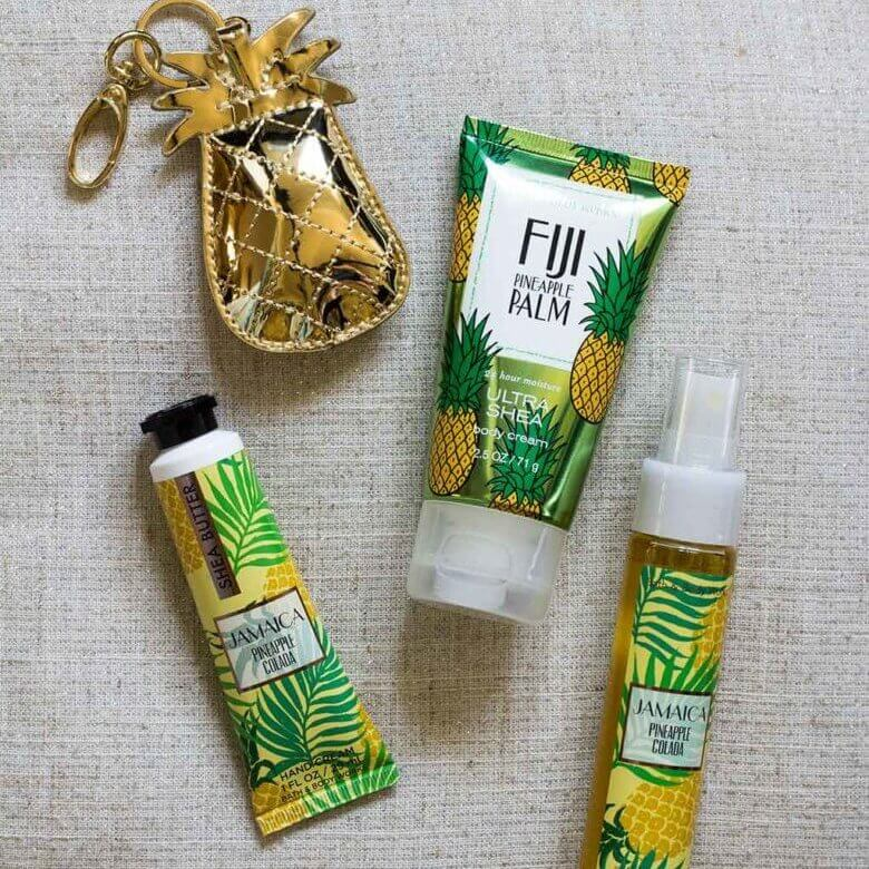 drive-swim-fly-california-pineapple-collection-bath-and-body-works-pineapple-lotion-pineapple-hand-cream-pineapple-hand-sanitizer